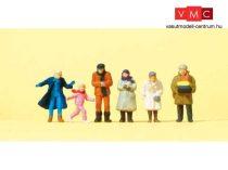 Preiser 14037 Gyalogosok, járókelők téli öltözetben (H0)