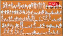 Preiser 16357 Vízparti kikapcsolódás - fürdőzők, festetlen figurák (H0)