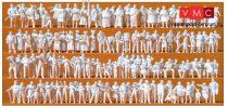 Preiser 16359 Középkori piac vevői, 125 db festetlen figura (H0)
