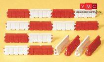 Preiser 17178 Közúti terelőelemek (piros-fehér) építkezésekhez (H0)