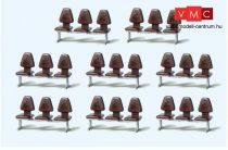 Preiser 17215 Várótermi széksor, 8 db - Építőkészlet (H0)