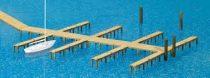 Preiser 17315 Stégek és mólók csónakkikötőhöz (H0)