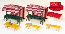 Preiser 17500 Árusító pavilon és asztalok piacra (H0)