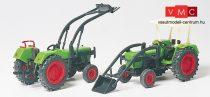 Preiser 17922 Deutz D6206 traktor BAAS homlokrakodóval (H0)