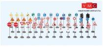 Preiser 18206 Francia közlekedési jelzőtáblák (H0)