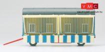Preiser 21019 Ketreces pótkocsi, Zirkus Krone, nyitott állapotban (H0)