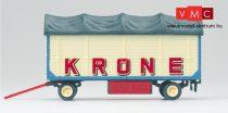 Preiser 21023 Nyitott pótkocsi ponyvával, Zirkus Krone (H0)