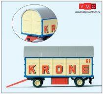 Preiser 21033 Fedett csomagszállító pótkocsi, Zirkus Krone (H0)