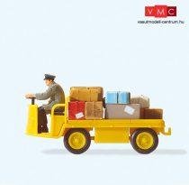 Preiser 28146 Elektromos postai kofferkuli vezetővel (H0)