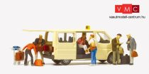 Preiser 33244 Ford Transit taxi utasokkal (H0)