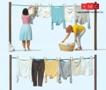 Preiser 44936 Asszonyok a ruhaszárító kötélnél (G)