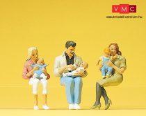 Preiser 45024 Ülő szülők gyerekekkel (G)