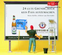 Preiser 45126 Plakátragasztó reklámtáblával (G)