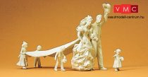 Preiser 45180 Esküvői pár koszorúslányokkal, festetlen (G)