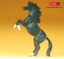 Preiser 47020 Ágaskodó fekete ló (1:25)