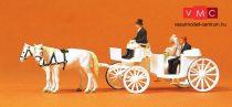 Preiser 75151 Esküvői nyitott hintó lovakkal és figurákkal (TT)
