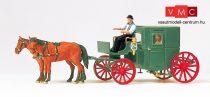 Preiser 75152 Zárt hintó lovakkal és figurákkal (TT)