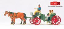 Preiser 75153 Nyitott hintó lovakkal és figurákkal (TT)