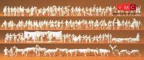 Preiser 79000 Vasutasok, utasok, járókelők, munkások, állatok (N)