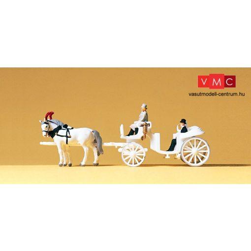 Preiser 79479 Esküvői nyitott hintó lovakkal és figurákkal (N)