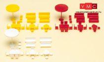 Preiser 79554 Asztalok, székek, napernyők (N)