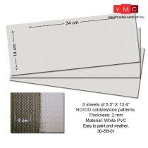 Proses 3D-EB-01 Embossed PVC Sheets (Cobblestone) 3 pcs. 14X34 cm Thick.: 2mm