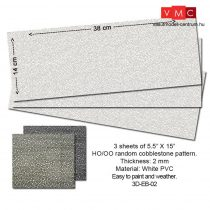 Proses 3D-EB-02 Embossed PVC Sheets (Random Cobblestone) 3 pcs. 14X34 cm Thick.: 2mm