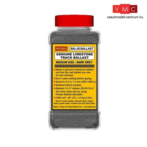 Proses BAL-O-03 Ágyazatkő, sötétszürke, 1.4 Kg (3 lbs) (0)