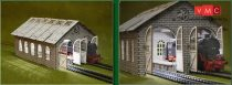 Proses LS-009 HO-OO Double Engine Loco Shed Laser-Cut Kit