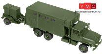 Roco 5041 M934 6x6 katonai dobozos teherautó M200 A1 aggregátor utánfutóval (H0) - US Army