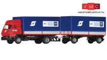 Roco 05176 Steyr S91 ponyvás teherautó pótkocsival, Rail Cargo (H0)