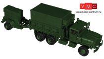 Roco 5179 M923 / M925 katonai teherautó aggregátor utánfutóval, hiradós felépítménnyel