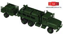Roco 5186 M923 / M925 (6x6) katonai teherautó M105 A2 utánfutóval, üzemanyagtároló tartá