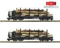Roco 34581 Rakoncás négytengelyes teherkocsi-pár fékállással, rönkfa rakománnyal, ÖBB