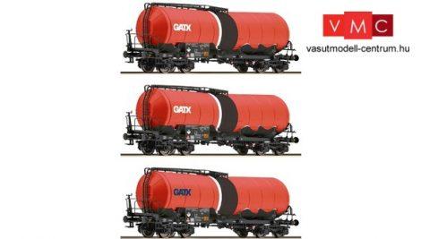 Roco 37636 Négytengelyes tartálykocsi-készlet, 3-részes GATX (E6)