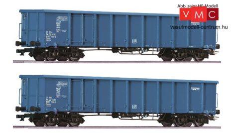 Roco 37644 Nyitott négytengelyes teherkocsi-pár, Eanos CD-Cargo (E6)