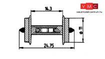 Roco 40186 Fémkerék 11 mm, 1 pár, foglaltságjelző ellenállással