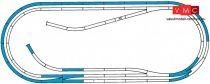 Roco 42012 Gumiágyazatos D sínkészlet, Roco LINE (H0)