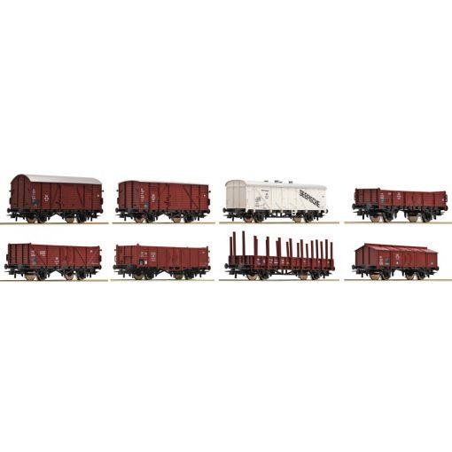 Roco 44002 Teherkocsi készlet, 8 db, DB