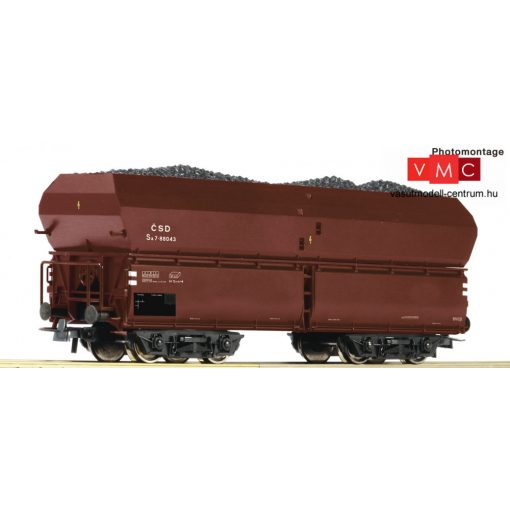 Roco 56334 Önürítős négytengelyes teherkocsi, CSD (E3)