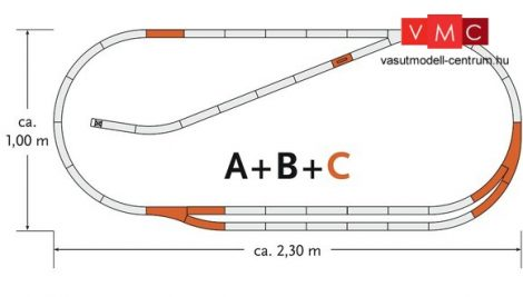 Roco 61102 GeoLine sínkészlet C