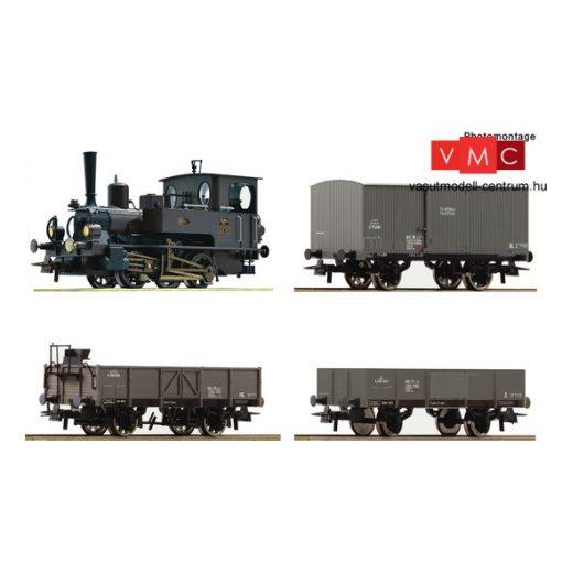 Roco 61458 Gőzmozdony 85 sorozat, tehervonattal, Kaiserzeit, KKStB (E1) - Sound