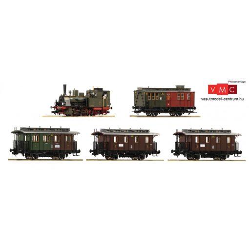 Roco 61475 Személyvonat készlet: Gőzmozdony T3 korabeli személykocsikkal (4 db), K.P.E.V. (
