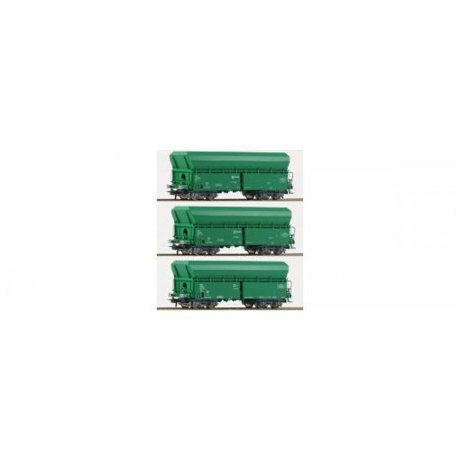Roco 67080 Önürítős négytengelyes teherkocsi-készlet, 3-részes, Renfe (E5)