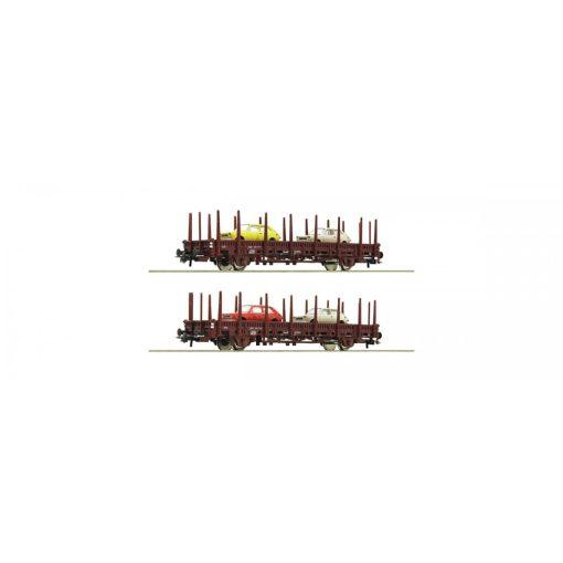 Roco 67086 Rakoncás teherkocsi-pár, Seat 127 személyautókkal, Renfe (E4)