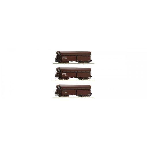 Roco 67151 Önürítős négytengelyes teherkocsi-készlet, 3-részes Falns, ÖBB (E6)