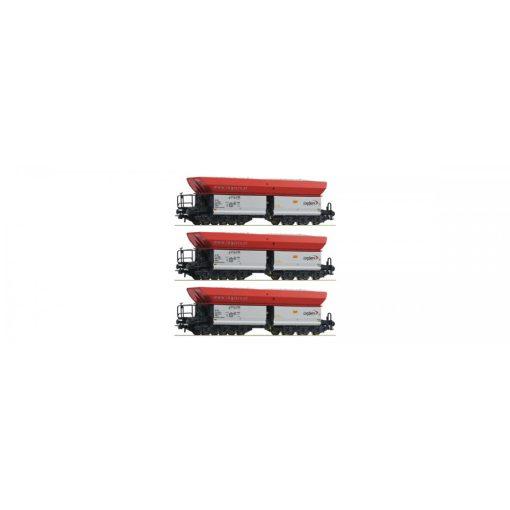 Roco 67154 Önürítős hattengelyes teherkocsi-készlet, 3-részes, Logserv (E6)
