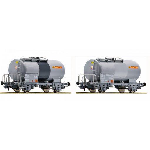 Roco 67168 Tartálykocsi-pár fékállással, Florin, SBB (E6)