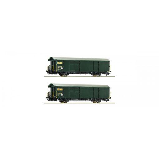 Roco 67186 Fedett teherkocsi-pár, Z2 postakocsi, SBB (E5) (H0)