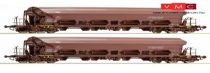 Roco 67273 Billenthető tetejű önürítős négytengelyes teherkocsi-pár, Facs, DB-AG (E5)